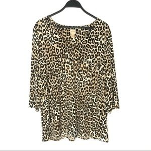 Chico's Animal Print Shirt XL